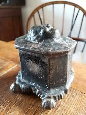 A Rare Original Cast Iron Tobacco Jar Victorian