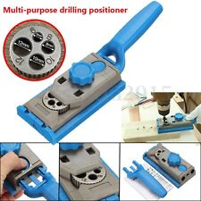 Pocket Hole Drill Jig Dowel Round Wood Jointing Drilling Locator For Woodworking