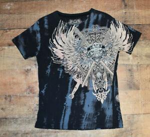 Xzavier 100% Cotton Skulls Men's T-Shirt Slim Fit Size 2XL EUC B49