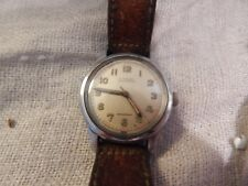 Vintage Military Style Watch Alprosa Enicar Swiss