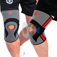 Athletics Knee Compression Brace Leg Support Padded Arthritis Sprain Pain Relief