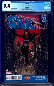 Silk #1 SECOND PRINT CGC 9.4 BLUE BOTTOM LOW PRINT RUN 2015 CINDY MOON NM