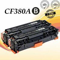 2PK CF380A Black Toner For HP 312A Color LaserJet Pro MFP M476dn M476dw M476nw