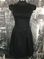 Cue Black Dress, Size 6, Cotton Blend, Work/Evening Wear