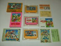 Super Mario Bros 1+2+3 Great 3 titles Boxed Nintendo Famicom FC Japan import