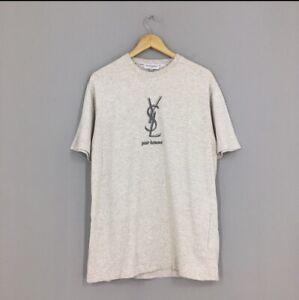 Vintage Yves Saint Laurent T Shirt YSL Size Large