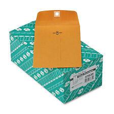 Quality Park Clasp Envelope 5 x 7 1/2 28lb Brown Kraft 100/Box 37835