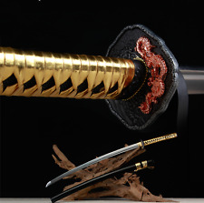 Handamade Japanese Ninja Shrine Sect Samurai Sword Katana High Carbon Sharp #199