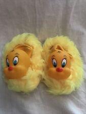 Vintage Tweety Bird Children's Slippers Sz 7-8 Toddler 3-4 Yrs