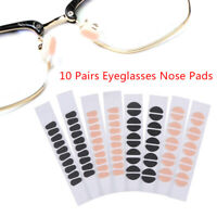 10Pairs Eye Adhesive Soft Comfort Foam Nose Pads Anti-Slip Eyeglass Nose PadR.kn