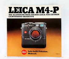 Leica M 4-P Sales Brochure - printed 1983 - 24 pages - German