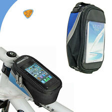 Borsa touch screen bici MOUNTAIN BIKE per GALAXY NOTE 3 N9005 impermeabile BLU