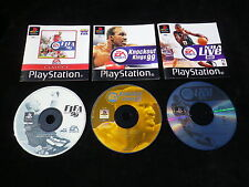 LOT 3 JEUX Sony PLAYSTATION PS1 PS2 : EA SPORTS 99 (FIFA + KNOCKOUT KINGS + NBA)
