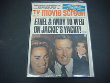 TV  And Movie Screen Magazine April 1972 Ethel & Andy Wed Jackie's Yacht M1928