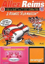 PROGRAMME STADE REIMS / CLERMONT FOOT LIGUE 2 33e JOURNEE 2002/2003