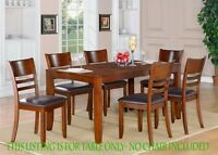 ONE LYNFIELD RECTANGULAR DINETTE DINING TABLE WITHOUT CHAIR IN ESPRESSO FINISH