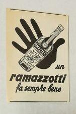 Pubblicità 1954 AMARO RAMAZZOTTI MILANO ITALY old advertising publicitè reklame