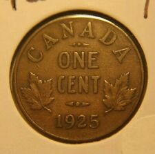 1925 Canada Small Cent -  NICE Fine Collector Coin KEY DATE