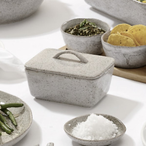 Artisan Grey Ceramic Butter Dish