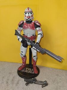 """Star Wars Clone Wars Sideshow Collectibles 12"""" 1/6 Scale Clone Shock Trooper"""