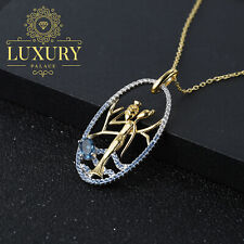 Natural London Blue Topaz 925 Sterling Silver Handmade Women Pendant Necklace