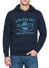 Timberland Men Hooded Print Logo Sweatshirt Casual Sweat Top Hoodie Dress Blue