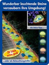 20 Leuchtsteine BUNT Leuchtkiesel leuchtende Deko Kiesel Steine nachleuchtend