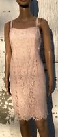 Vintage Crystal Beaded Dress 1980s Pink Cocktail Gown Party Formal Prom Size 6