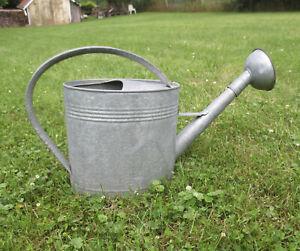 Large Vintage 3 Gallon Oval Galvanized Watering Can Flower Sprinkler