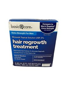 Basic Care Topical Solution USP, 5% Hair Regrowth Treatment, 6 - 2 oz bottle