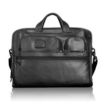 Tumi ALPHA 2 Leather Brief Case Laptop Messenger Organizer $555
