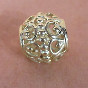 AUTHENTIC PANDORA GILDED CAGE 14K GOLD BEAD #750458 CHARM YELLOW FREE SHIPPING