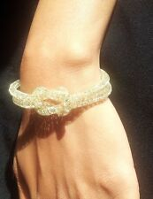 Gold plated mesh Stardust Bracelet SWAROVSKI crystal  jwellery perfect gift