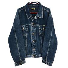 Wrangler Blu Scuro Classico Vintage Western Denim Jeans Giacca Taglia XXL/2XL