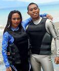 Adults Life Jacket Premium Neoprene Vest Water Ski Wakeboard PFD Grey 3XL MEN