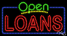 "New ""Open Loans"" 32x17 Solid/Animated Led Sign W/Custom Options 25531"