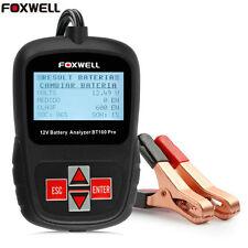 Voiture Testeur Analyseur de Batterie 12V pour Inondées,AGM,GEL Foxwell BT100