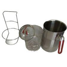 Kuhn Rikon 4th Burner Pot Aspargus Steamer Basket Stainless Steel w/Trivet Stand