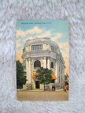 "Vintage ""Banco De Ponce"" Building Ponce, Puerto Rico Unused Postcard, Collect"