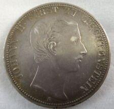Rare 1862-A Original Liechtenstein Johann II EF, Thaler, Dav-215, KM Y1.