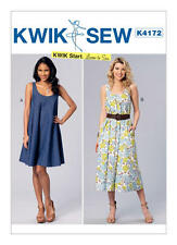 Kwik Sew 4172 Paper Sewing Pattern Misses XS-XL Learn to Sew Dresses