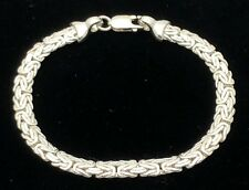 """925 Sterling Silver Byzantine Bracelet 8"""" 6mm"""