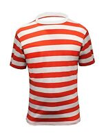 Mens Red and White Stripe TShirt Striped Top Fancy Dress Blue Black LOT