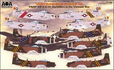 AOA Decals 1/72 VIETNAMESE SPADS DOUGLAS AD-6 & A-1H SKYRAIDER Part 2