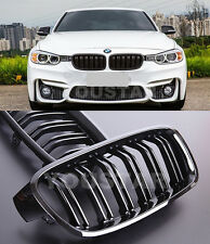 FAST EMS X2 DUAL Slats GLOSS BLACK Grills for BMW F30 F31 3 Series DUTY FREE