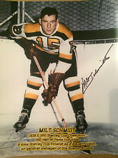 Milt Schmidt autographed Boston Bruins  11 x14 photo (with proof)