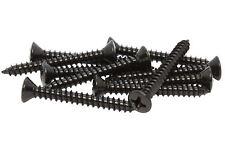 "#6 x 1.25"" Screws for Guitar Bridge & Strap Button Mounting - Set of 10 - Black"