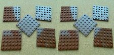 LEGO Large Plates 6x6 BROWN # pack of 10 # baseplate star wars +