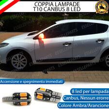 COPPIA LAMPADE FRECCE LED LATERALI RENAULT MEGANE 3 T10 CANBUS NO ERRORE