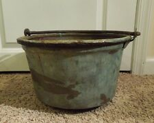 Vintage Large Kettle Stewing Cooking Pot Cauldron with Handle